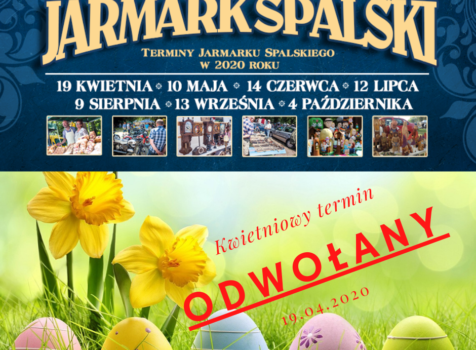 Kwietniowy termin Jarmarku Spalskiego – odwołany