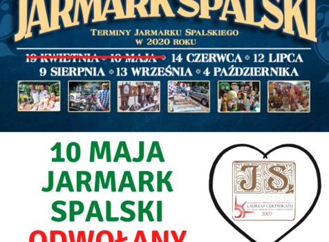 Kolejny termin Jarmarku Spalskiego – odwołany